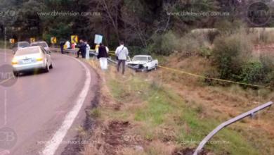 Muere conductor tras percance de camioneta en la Quiroga-Morelia