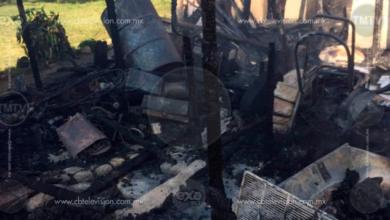 Incendio consume vivienda en Tlalpujahua