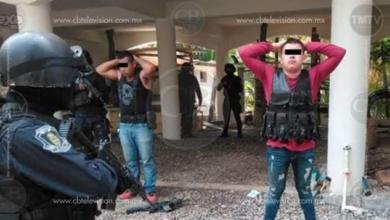 Policías y Militares aseguran a cuatro sujetos armados