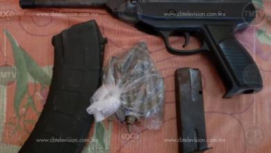 Asegura Policía Michoacán tres armas de fuego