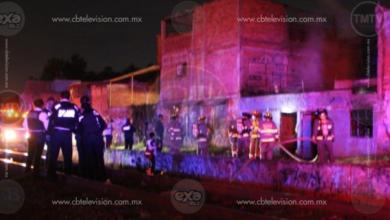 Bomberos Morelia sofocan incendio de casa habitación