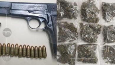 Detiene Policía Michoacán a tres, entre ellos un menor con arma de fuego y droga