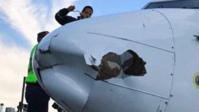 Dron se impacta con avión de Aeroméxico en Tijuana