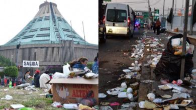 Más de 483 toneladas de basura se han recolectado en la Basílica de Guadalupe