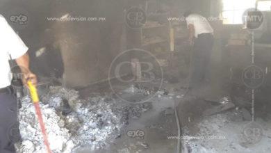 Ocurre incendio en kínder de Apatzingán