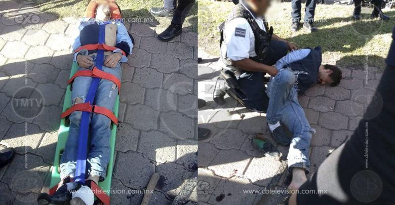 Empistolado dispara sin motivo contra la Policía, es herido y detenido