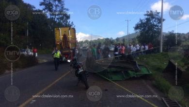 Se mata taxista en la libre Uruapan – Pátzcuaro