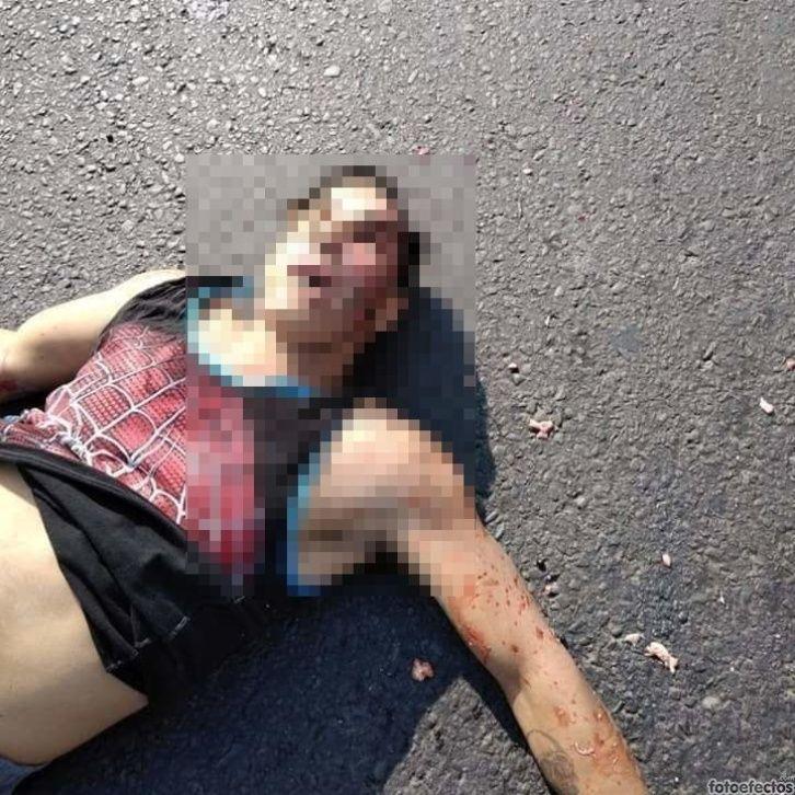Con el cerebro en el asfalto termina presunto asaltante atropellado