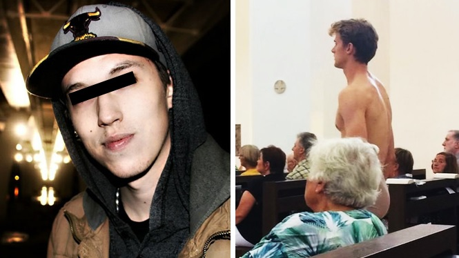 Se desnuda en iglesia y baila sobre pila de agua bendita, podría ser condenado a cinco años en prisión