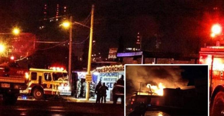Mueren dos hombres en incendio causado por una fogata