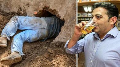 Construye un túnel desde su casa al bar para escapar por las noches de su esposa