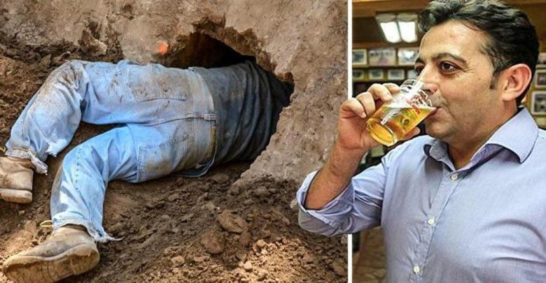 Resultado de imagen para Construye un túnel desde su casa al bar para escapar por las noches de su esposa