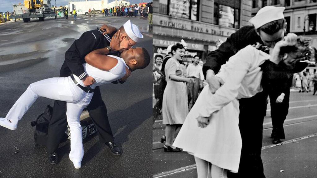 Marinero recibe a su esposo con apasionado beso y se viraliza