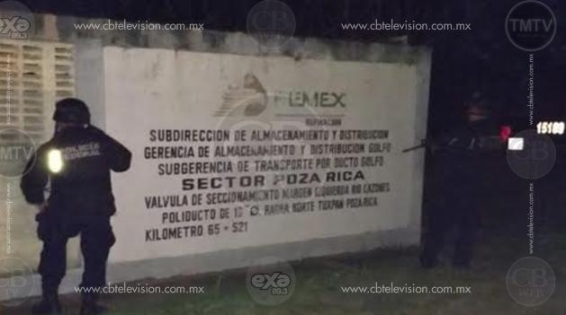 Federales detectan manipulación en ducto de Pemex