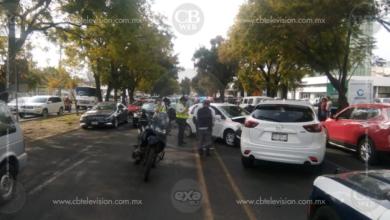 Se registran dos accidentes de vehículos en Morelia; hay 3 heridos