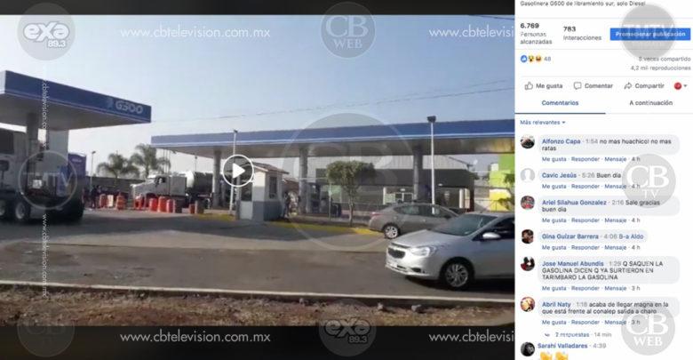 Contradicen usuarios en redes sociales, supuesto abasto de combustible en Morelia