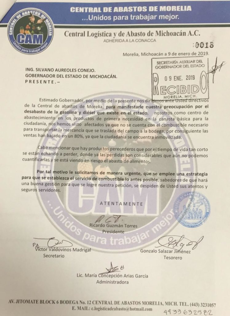 Directivos de la Central de Abastos en Morelia denunciaron la reducción de hasta 80% en ventas