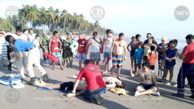 Tres turistas estuvieron a punto de morir ahogados en Lázaro Cárdenas