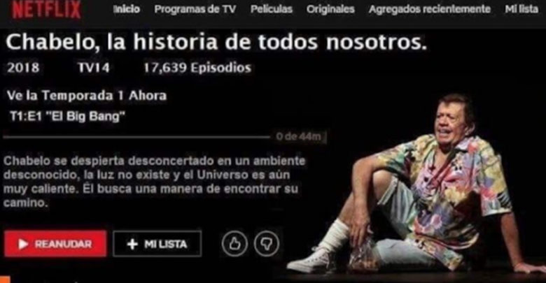 Se viraliza supuesta serie bibliográfica de Chabelo en Netflix