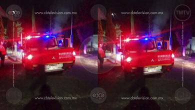 Se incendia corralón de autos en Zitácuaro