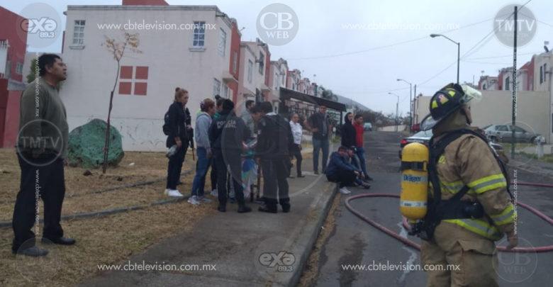 Incendio consume vivienda al poniente de Morelia