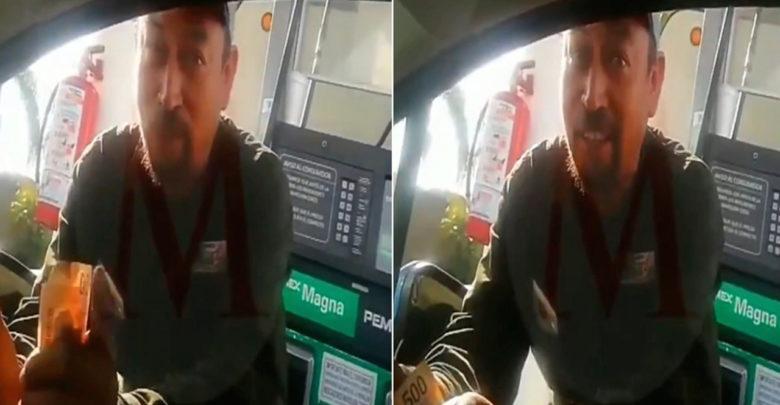 Empleado de gasolinera pide dinero extra a cambio de vender el combustible