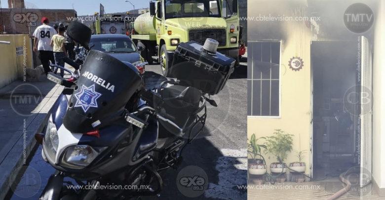Bomberos sofocan incendio de domicilio en fraccionamiento de Morelia