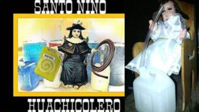 """Huachicoleros se encomiendan al """"Santo Niño Huachicolero"""""""