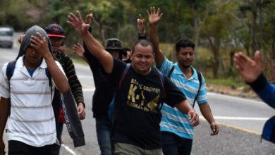 Llegan los primeros migrantes a la frontera de México