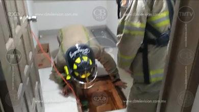 Hombre resulta inconsciente por intoxicación al pintar aljibe del INE, en Morelia