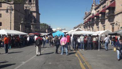 ¡Al fin! Retira CNTE plantón en Centro de Morelia