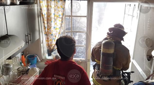 Se registra incendio en domicilio de LC