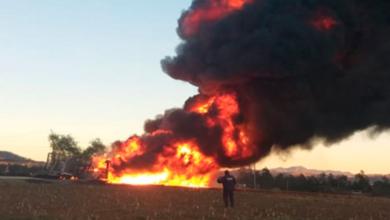 Incendio en ducto de Pemex en Puebla
