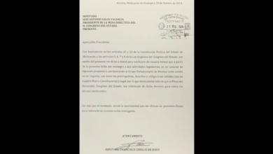 Perderá PRD otro diputado en Michoacán