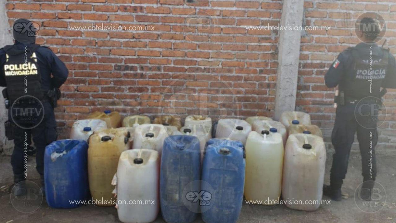 Incautan bodega con hidrocarburo ilícito