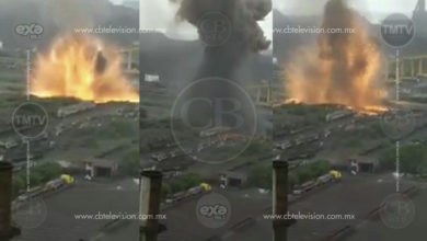Se registra fuerte explosión en empresa de Lázaro Cárdenas
