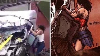 Video: Como la mujer maravilla, ella rescató a un hombre mientras todos grababan