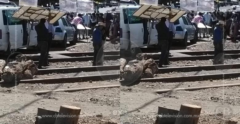 Desconoce CNTE a manifestantes que mantengan bloqueo en vías del tren