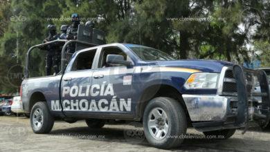 Detiene Policía Michoacán a un joven con arma de fuego, en Morelia