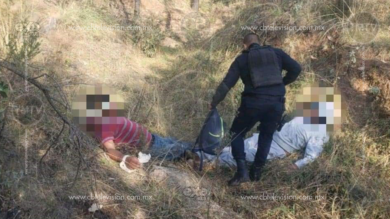 Policías liberan a dos campesinos secuestrado en Zinapécuaro y decomisan cartuchos y droga