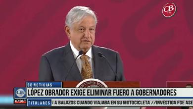 Photo of CB Noticias el Amanecer 29 de Marzo. López Obrador Exige Eliminar Fuero a Gobernadores Bloque 1-8