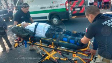 Auto embiste a un abuelito en el periférico de Morelia