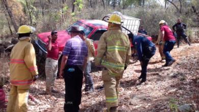 Quincuagenario fallece al volcar en Chilchota
