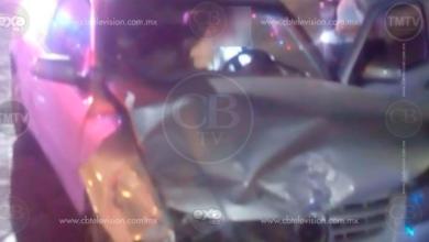 Dos heridos tras choque en el Libramiento de Zitácuaro