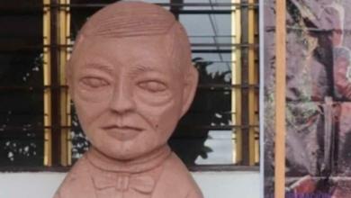 Por mil 500 pesos, artesano principiante hizo busto de Benito Juárez