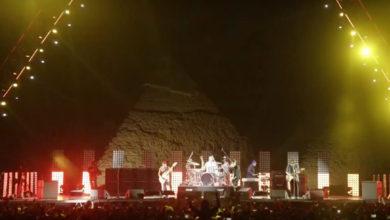 Fotos del histórico concierto de Red Hot Chili Peppers en las Pirámides de Egipto