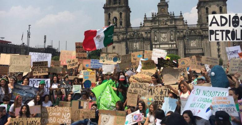 """""""Ni un grado más, ni una especie menos"""", marchan en CD.MX. por el cambio climático"""