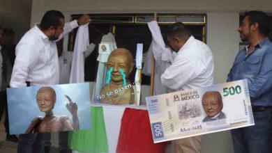 ¡De otro planeta!, Internautas se burlan del busto de Benito Juárez haciendo memes