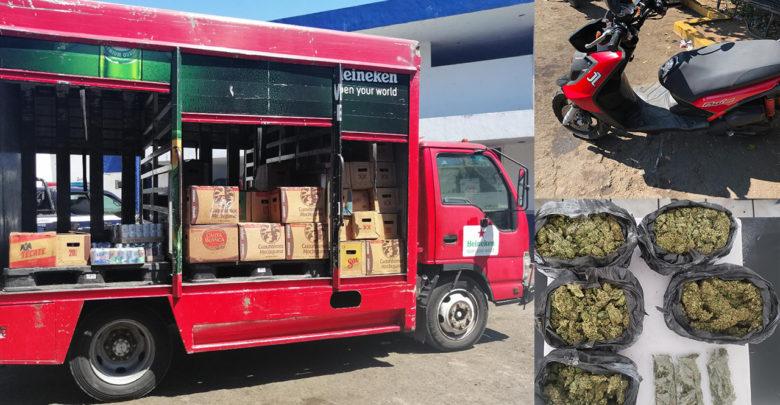 Arrestan en Uruapan a cinco hombres por posesión de droga y vehículos con reporte de robo
