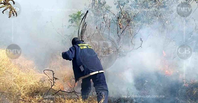 Imparables los incendios de pastizal en Zitácuaro